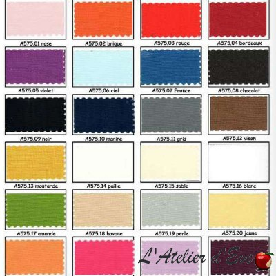 Cloth cotton canvas wide width 27 colours A575