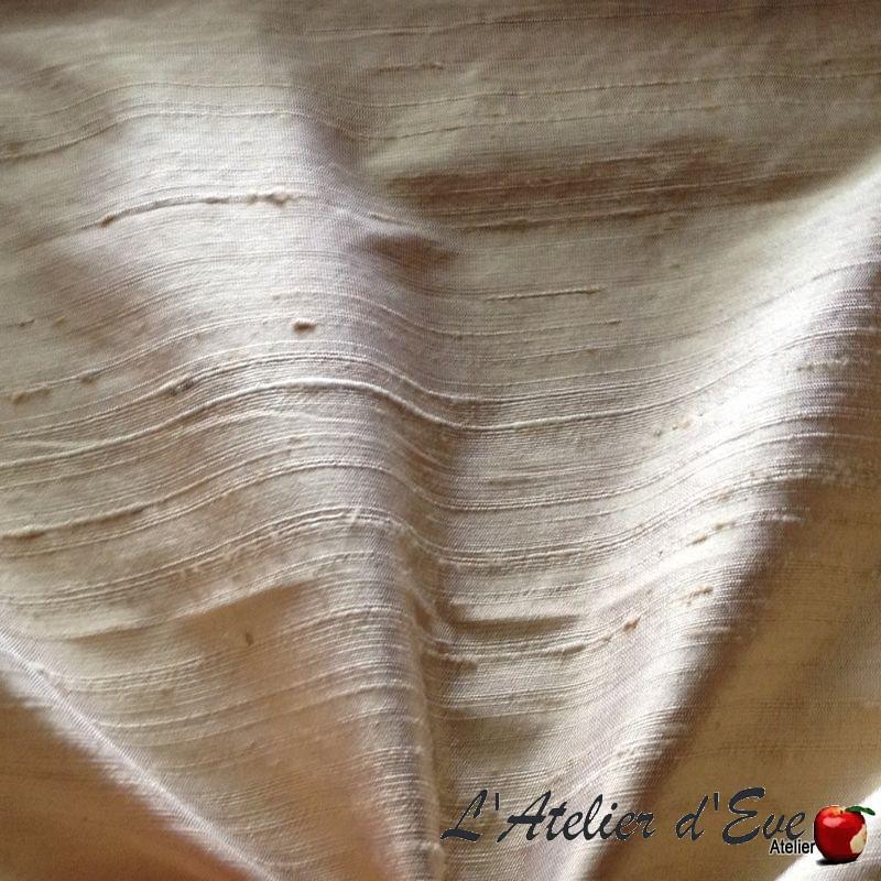 Soie sauvage beige Tissu ameublement 100% soie