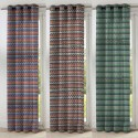 Renzo 3 coloris Rideau a oeillets made in France jacquard chenille Le rideau