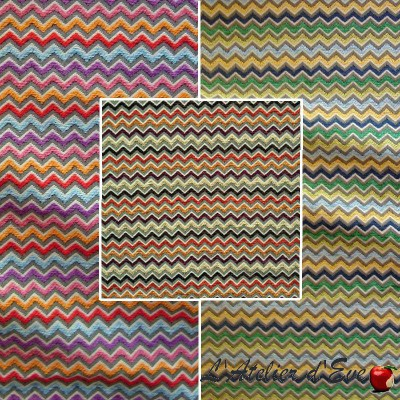 Renzo 3 coloris Rouleau tissu ameublement jacquard chenille rayures