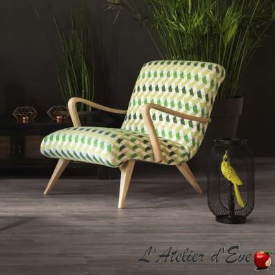 Kappa caraïbes: Tissu ameublement jacquard chenille pour siège et tapissier au mètre de Casal
