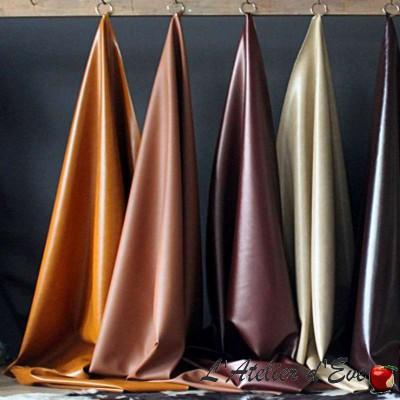 Wayne turquoise : Tissu simili cuir pour siège Casal