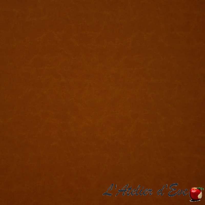 Cooper cognac: Tissu ameublement simili cuir uni Casal
