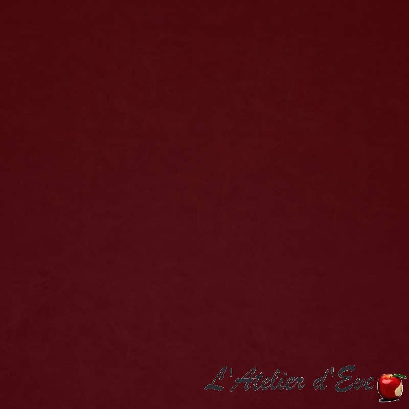 Fonda bordeaux: Tissu ameublement simili cuir stretch Casal