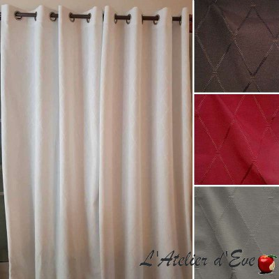 Dandy (7 colours) grommet curtain ready to ask United jacquard Thévenon the curtain