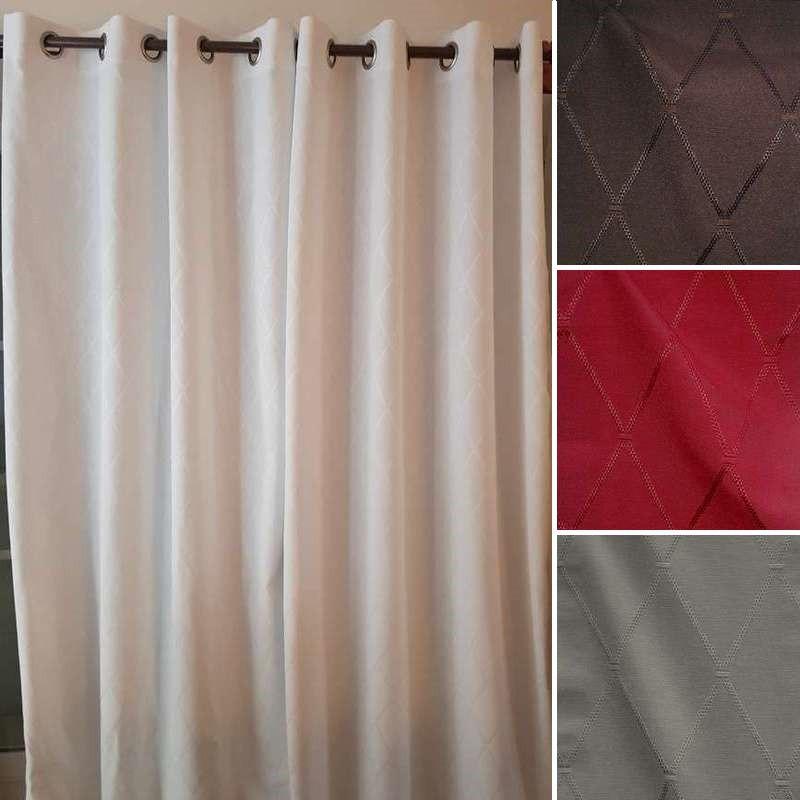 rideau oeillets dandy made in france par l 39 atelier d 39 eve. Black Bedroom Furniture Sets. Home Design Ideas