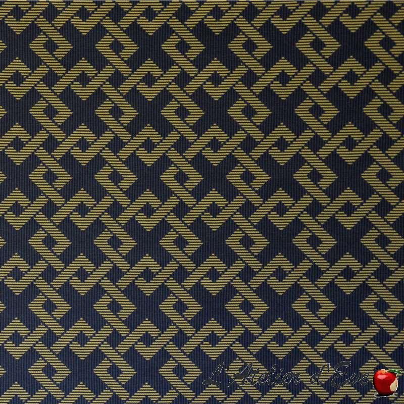 Icone marine or: Tissu ameublement jacquard non feu M1 graphique Casal