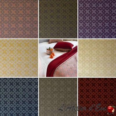 Icone (10 coloris) Tissu ameublement jacquard non feu M1 graphique Casal