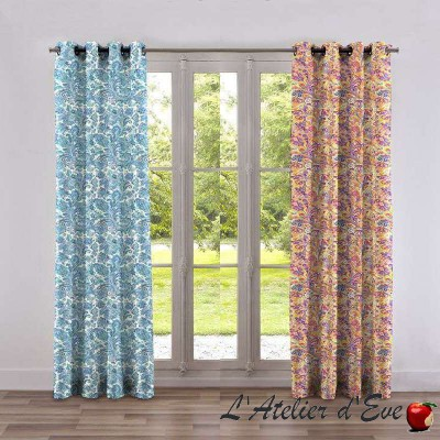 Hippy curtain with eyelets ready to ask Made in France Thévenon