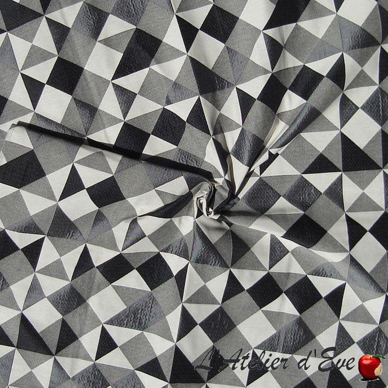 Grossiste tissu gris non feu M1 Dancer inox Thevenon