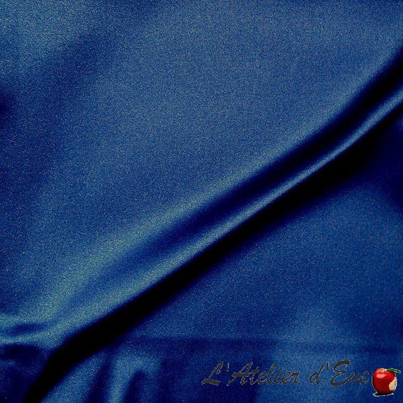 Mango bleu Rideau non feu M1 satin lavable Thevenon