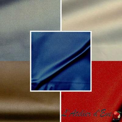 Mango 9 coloris Rouleau tissu non feu M1 satin lavable Thevenon