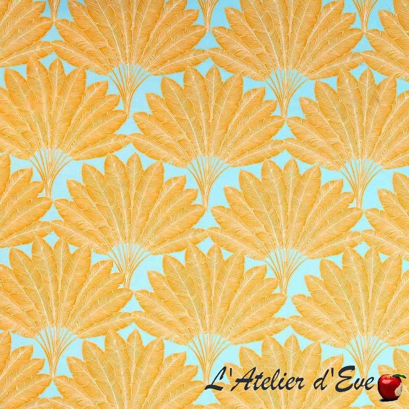 Arbre Voyageur (4 coloris) Tissu coton grande largeur motif plumes Thevenon