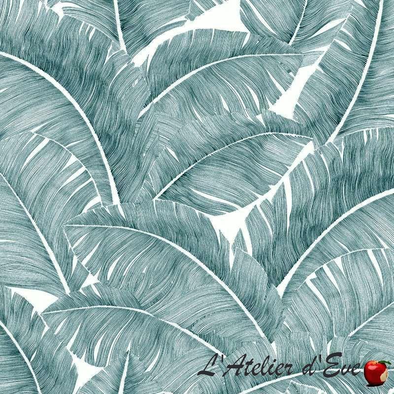 Grossiste tissu non feu M1: Rouleau toile de coton Totem vert