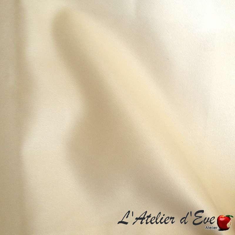 """Rideau satin écru 100% polyester """"Faubourg"""" Thevenon Paris"""