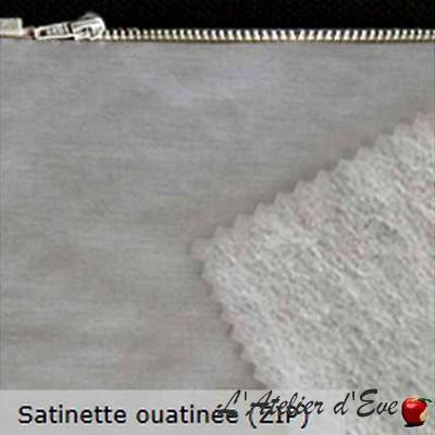 Doublure universelle satinette ouatinée avec zip Thevenon L'unite