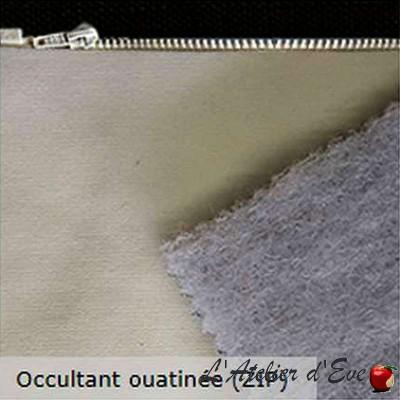 Doublure universelle non feu M1 occultante ouatinée avec zip Thevenon