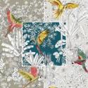 """""""Perroquets mania"""" coton Remise 30% Rouleau tissu grande largeur Thevenon Pièce/demi-pièce"""