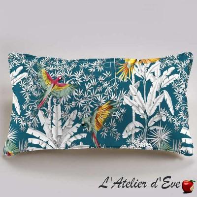"""Parrots mania"" Cushion 60x30cm cotton Thevenon"