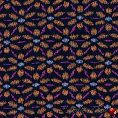 Coupon 40x110cm Tissu patchwork coton pwva018 navyx