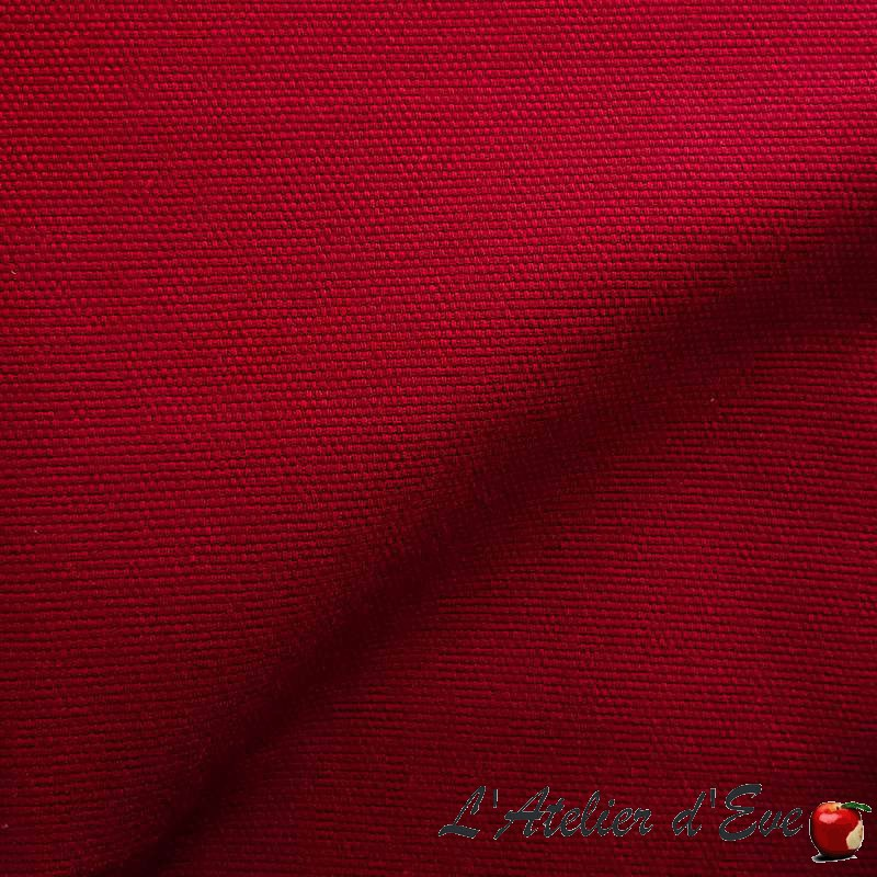 Rideau, double rideaux Made in France Chalala rouge Thevenon