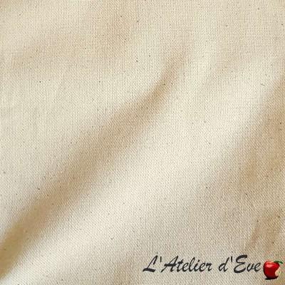 Rouleau bachette tissu ameublement bachette coton grande largeur ecru Thevenon