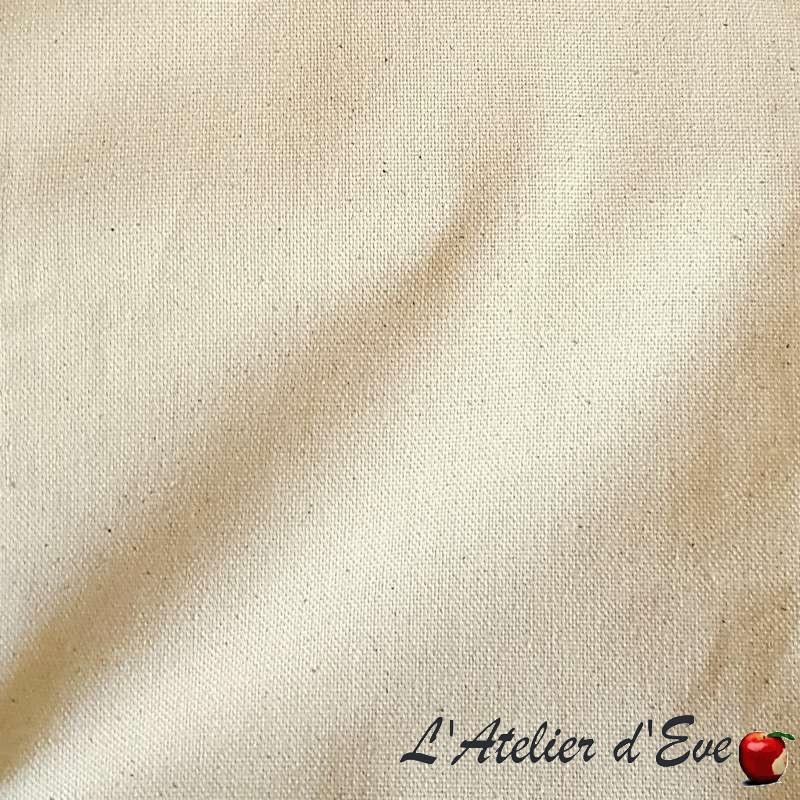 Bachette Tissu ameublement bachette coton grande largeur ecru Thevenon le metre