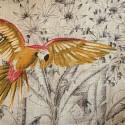 """Parrots mania"" linen canvas Thevenon"