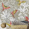 """Parrots mania"" Cushion and pillowcase Thevenon"