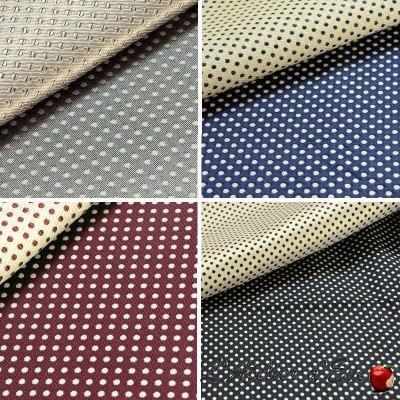 """Prince Dots"" Rideau Made in France jacquard Thevenon"