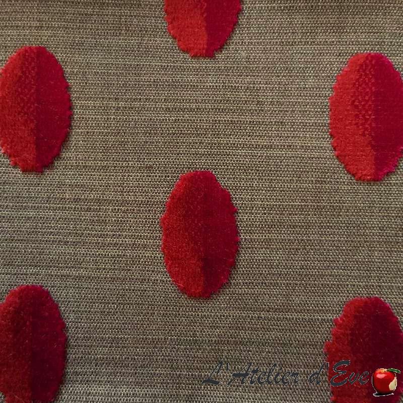 """Beaubourg"" rose Tissu jacquard velours Casal"