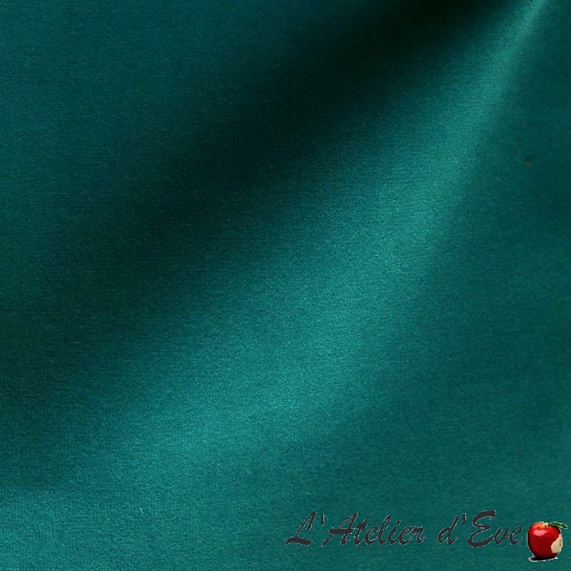 Sweet Love bleu canard: Tissu velours uni Thevenon
