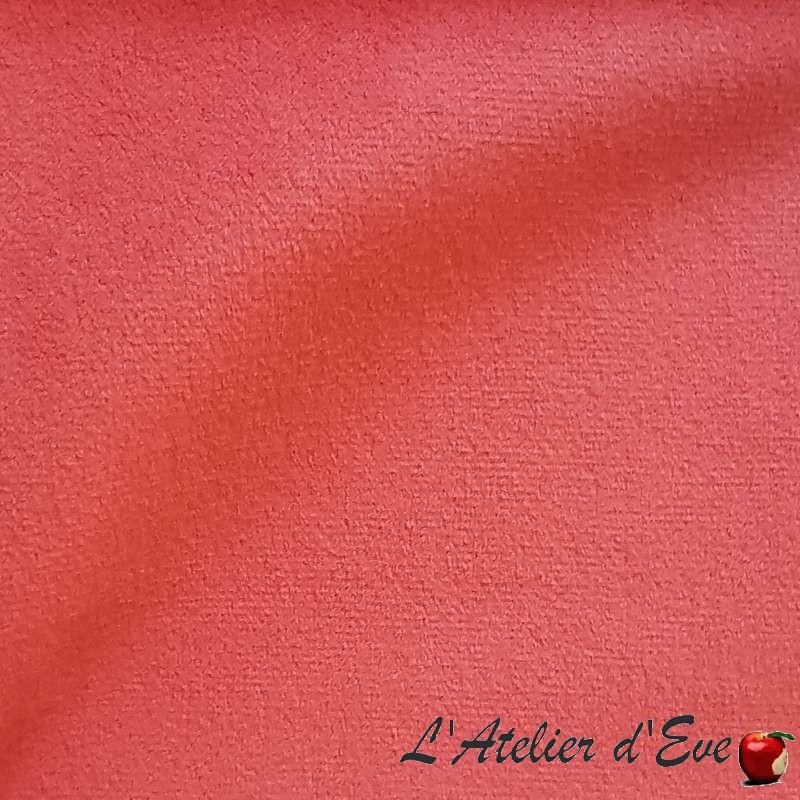 Grossiste magasin de tissu rose Sweet Love pour ameublement siège et tenture de Thevenon