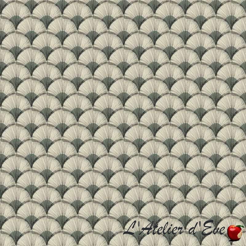 """Evedeco.com, grossiste tissus en ligne tissu gris 100% coton """"Papyrus"""" de Thevenon"""