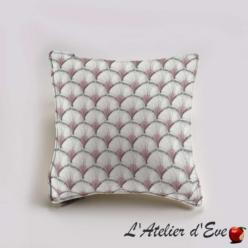 """Papyrus"" rose Coussin et taie Thevenon"