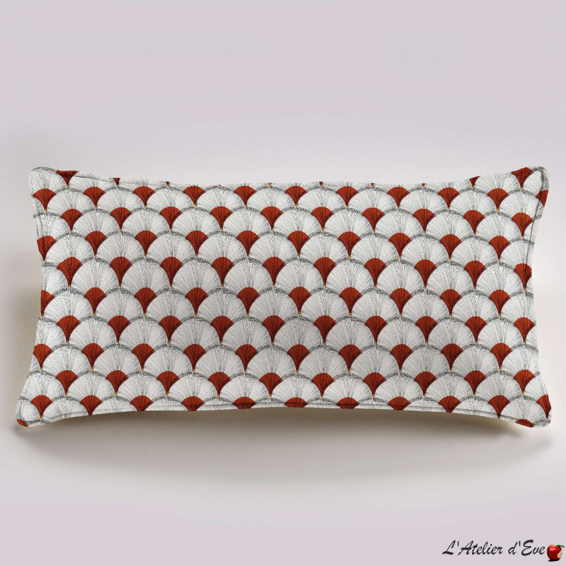 """Papyrus"" cotton Cushion 60x30cm Thevenon"