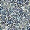 """""""Le langage de la floraison"""" Tissu bleu coton fantaisie Thevenon"""