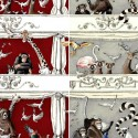 """All at the theater"" Cotton curtain Made in France Thevenon"