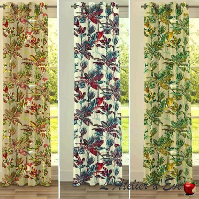 """Florida"" cotton fabric great width exotic Thévenon"