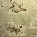 """""""Rennes des neiges"""" lin Toile montagne Thevenon"""