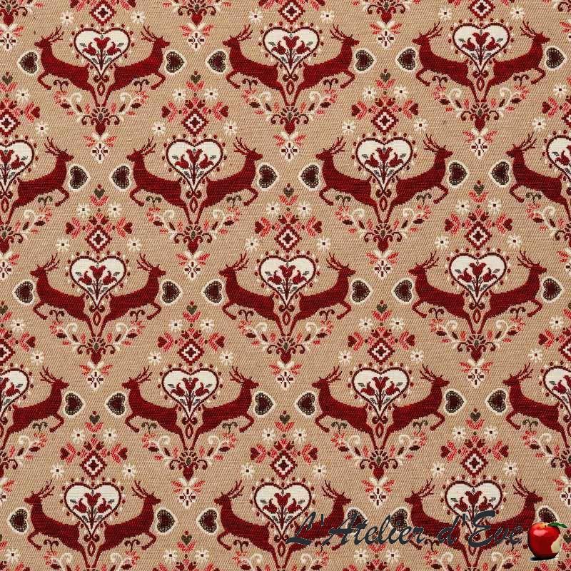 Achat/vente de rideau rouge de noël Saut en hiver de Thevenon