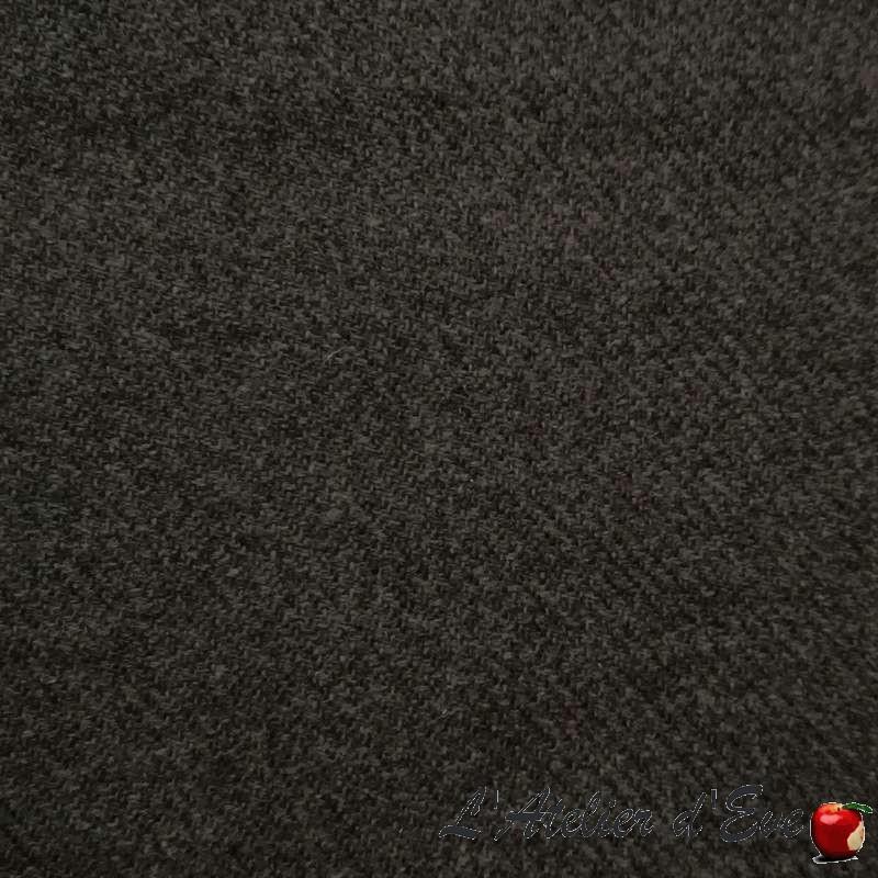 """""""Laine"""" Tissu gris, laine uni ameublement tenture et habillement Thevenon"""