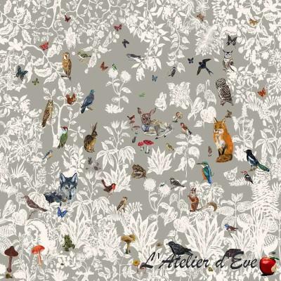 """Black Forest"" Nathalie Lété Satin furniture fabric Thevenon"