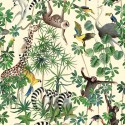 """Animal jungle"" Thevenon cotton child upholstery fabric"