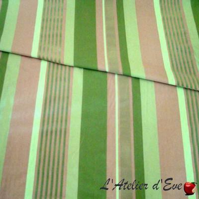 Othello (3 colors) fabric furniture wide stripes flockees Thévenon