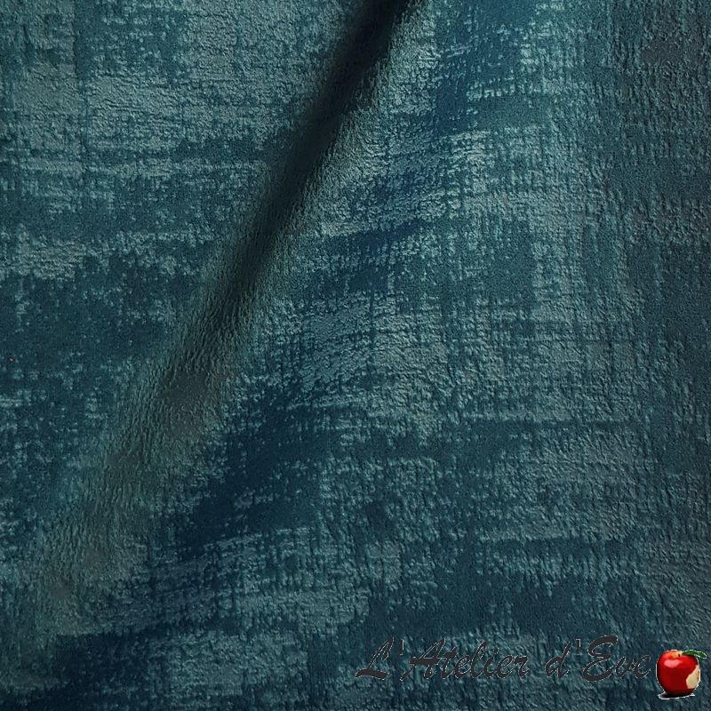 """""""Milano"""" bleu canard Tissu ameublement velours Thevenon"""