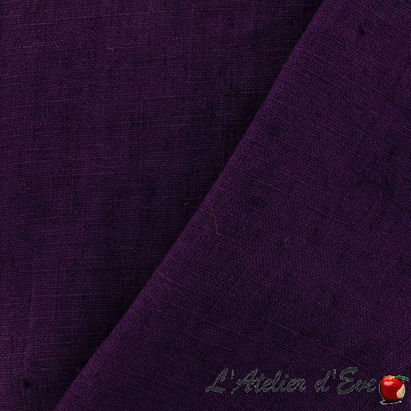 Lin lave (24 coloris) Tissu habillement lin uni L.142cm Thevenon