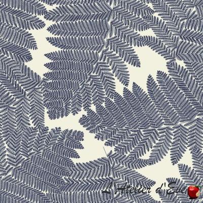 "Tissu bleu coupon ""Wood"" de Thevenon Paris"
