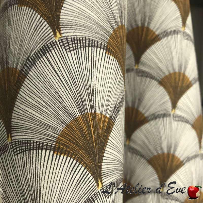 Tissu enduit jaune africain pour nappe Papyrus de Thevenon