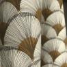 Grossiste tissu enduit jaune africain pour nappe Papyrus de Thevenon
